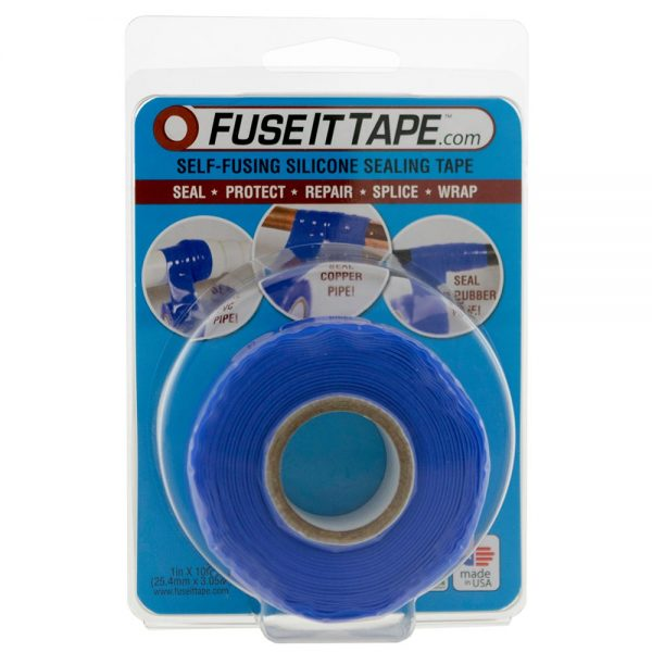 Fuse It Tape self-fusing silicone tape (blue).