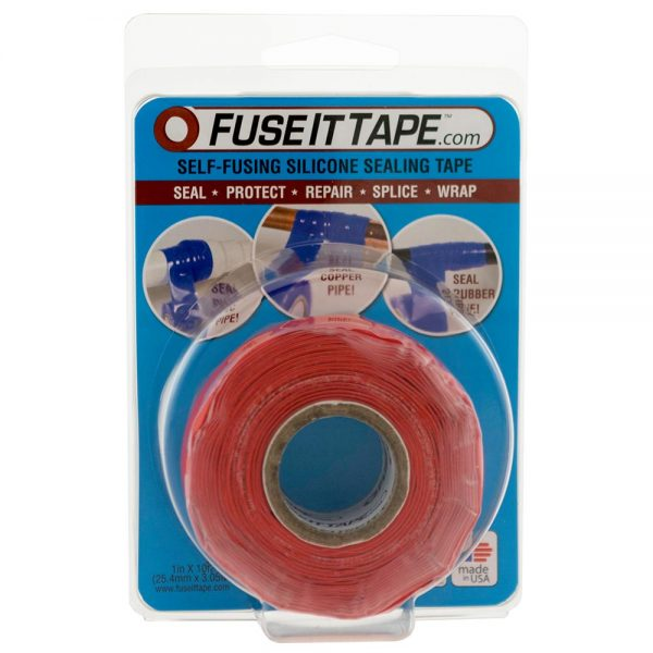Fuse It Tape self-fusing silicone tape (red).