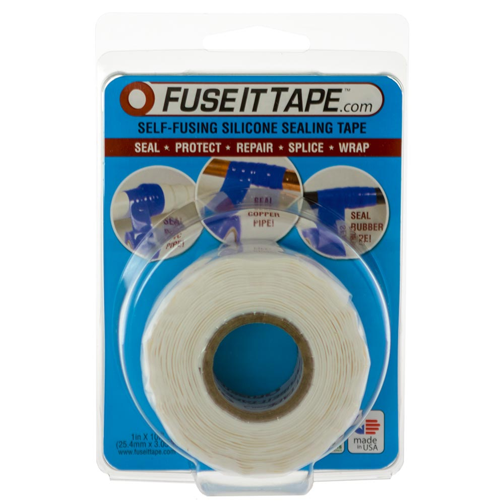 Fuse It Tape self-fusing silicone tape (white).
